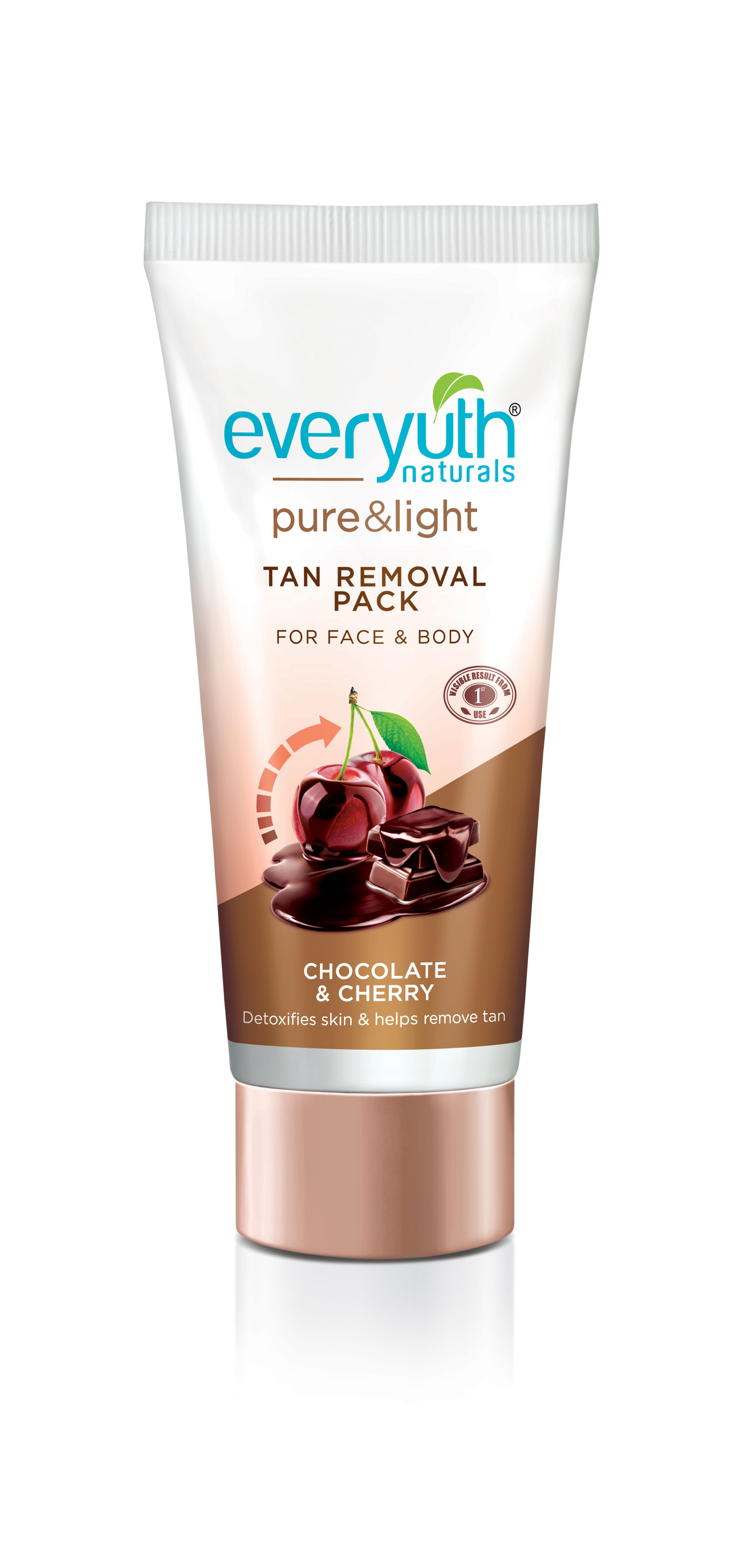 b9a28a775ccf8 Everyuth Naturals Chocolate And Cherry Tan Removal Face & Body Pack(50gm)