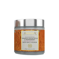 Ananda Invigorating Body Scrub & Bath Salt - Orange, Eucalyptus, Peppermint