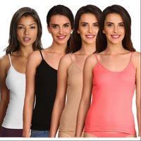 Jockey Multi Color Spaghetti Top Combo - Pack of 4