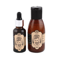 The Man Company Argan & Geranium Beard Oil + Beard Wash Combo