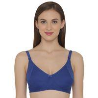 Clovia Cotton Non-Padded Non-Wired Maternity Bra - Blue