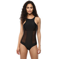 Blush Mesh Swimsuit - Black