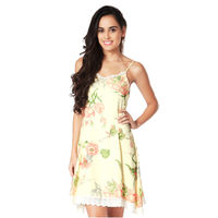 Mystere Paris Floral Short Nightdress - Peach