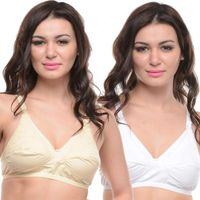 Bodycare Maternity-Feeding Skin-White 2Pcs Bra Combo