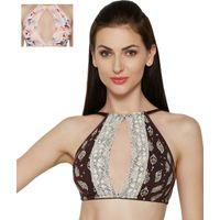 Inner Sense Organic Cotton Antimicrobial Wireless Halter Neck Bralette Pack Of 2 - Multi-Color
