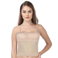 Kate Single Skin Light Padded Camisole With Panty - Nude (Free Size)