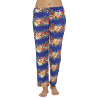 Clovia Warm Floral Print Pyjama - Multi-Color