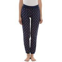 Da Intimo Printed Lounge Pants With Drawstring - Blue