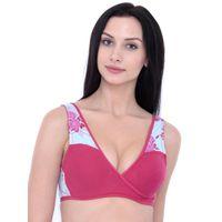 Inner Sense Organic Cotton Blended Feeding Women's Nursing Bra - Pink
