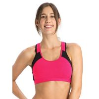 Jockey Ruby & Black Power Back Padded Active Bra