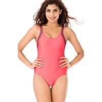 PrettySecrets Coral Scoop Back Swimsuit