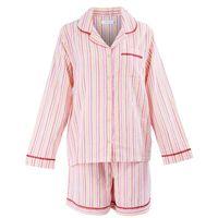 Nordlich Pink-Red Striped Shorts Set