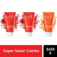 Buy 2 Get 1 Free Lakme Blush & Glow Strawberry and Peach Facewash Combo (50gm)