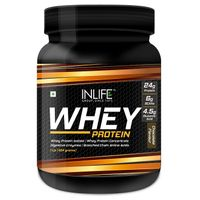 INLIFE Whey Protein Powder Body Building Supplement - Chocolate 1lb