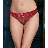 Enamor P089 Low Waist Lace Co-ordinate Panty - Red