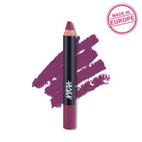 Nykaa Pout Perfect Lip & Cheek Creamy Matte Crayon Lipstick - Please Plum Me 01