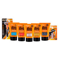 The Shave Doctor Face Wash Scrub + Moisturazor + Aftershave Cooling Gel + Shave Gel Oil + Creme + Hero Razor + Hero Blade - Packs of 2