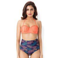 PrettySecrets Bandeau High Waist Bottom Bikini - Multi-Color 2