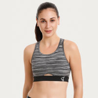 Zivame Zelocity Low Impact Sports Bra - Black Melange