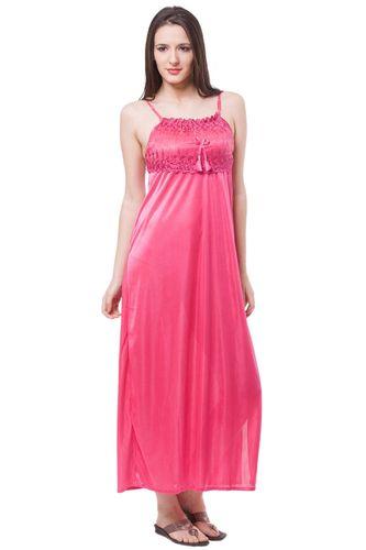 Fasense Nightdress - Buy Fasense Women Satin Nightwear 2 PCs Set Of ... 7669b96e5