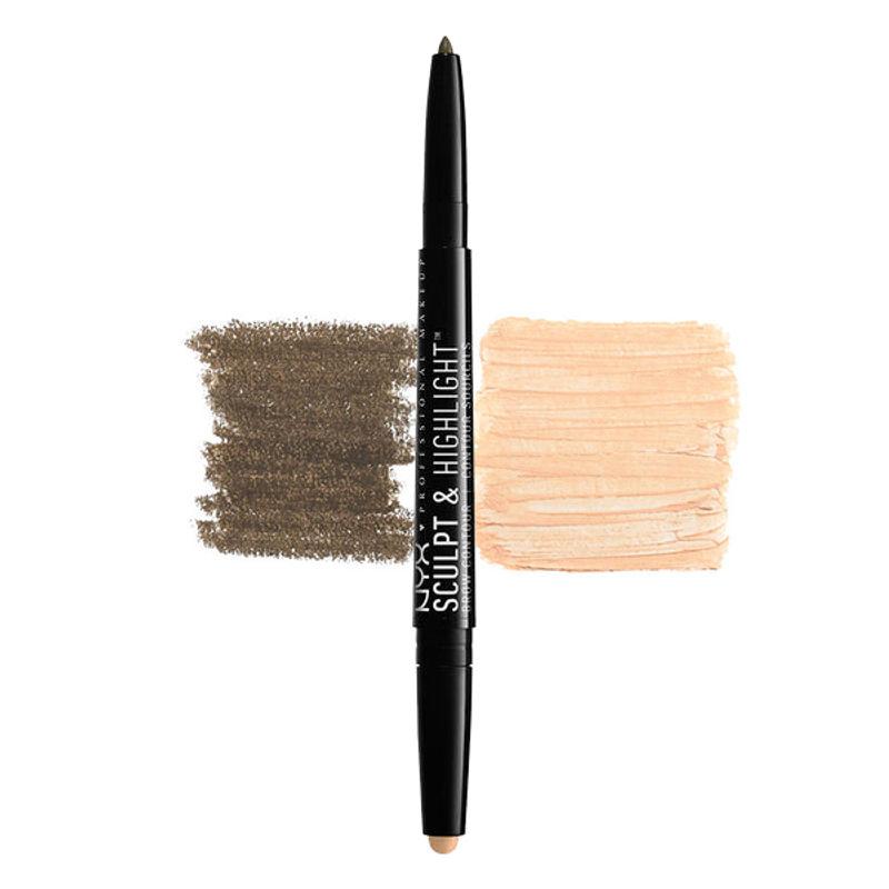 NYX Professional Makeup Sculpt & Highlight Brow Contour - Ash Brown/Medium Beige