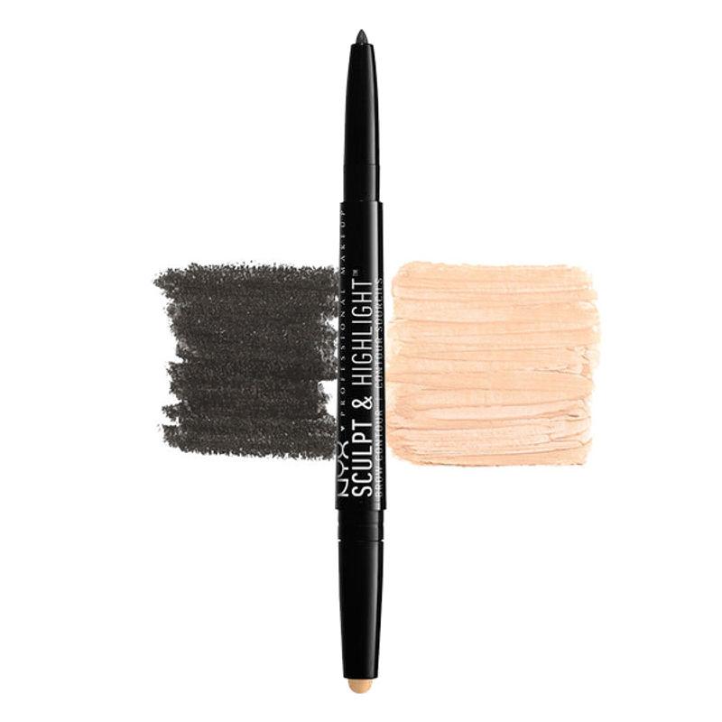 NYX Professional Makeup Sculpt & Highlight Brow Contour - Black/Golden Peach