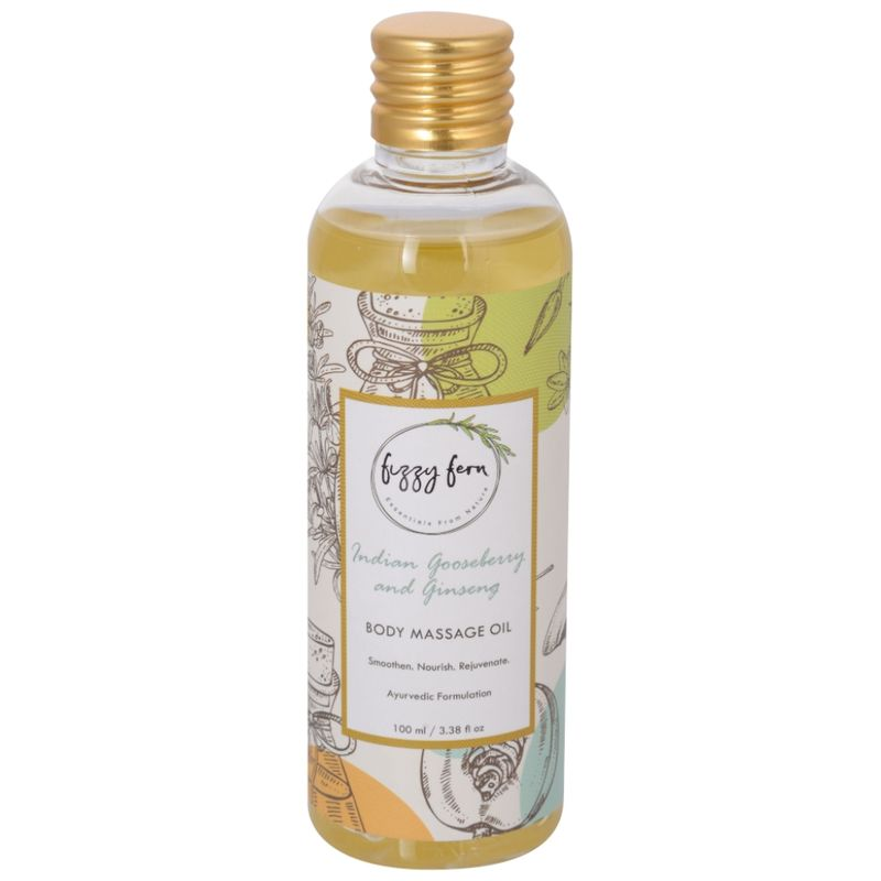 Fizzy Fern Indian Gooseberry & Ginseng Body Massage Oil