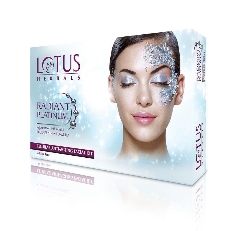 Lotus Herbals Radiant Platinum Cellular Anti-Ageing 4 Facial Kit