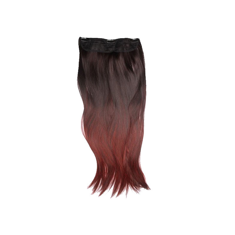 Streak Street Ombre Clip-On Hair Extensions - Red Wine Burgundy