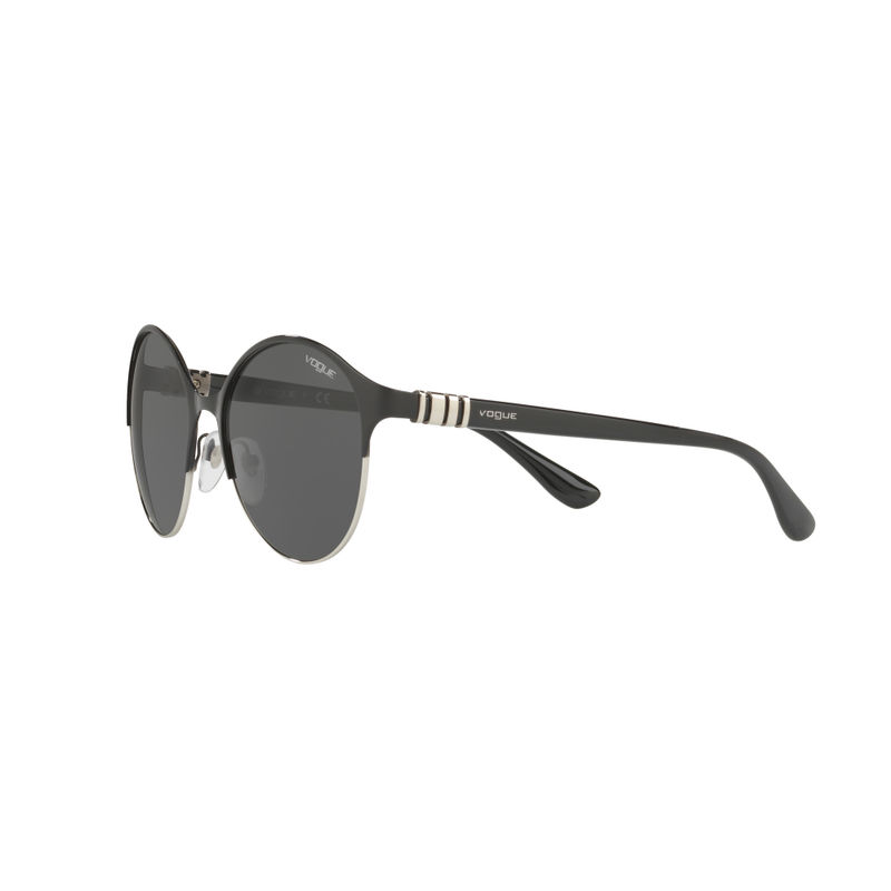 b2141c1d79 Vogue Grey on Black Silver Frame Sunglasses - 0VO4049S 352 87 at Nykaa.com