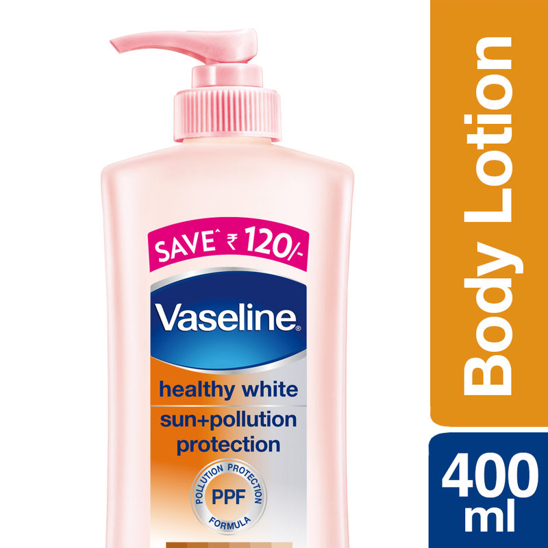 Vaseline Sun + Pollution Protection Healthy White Triple Lightening SPF 24 Body Lotion Save Rs 120