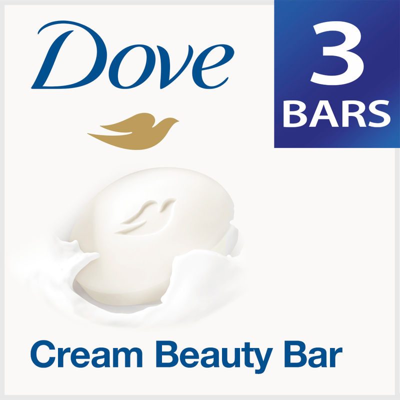 Dove Cream Beauty Bathing Bar - Pack Of 3 + 75gm Free