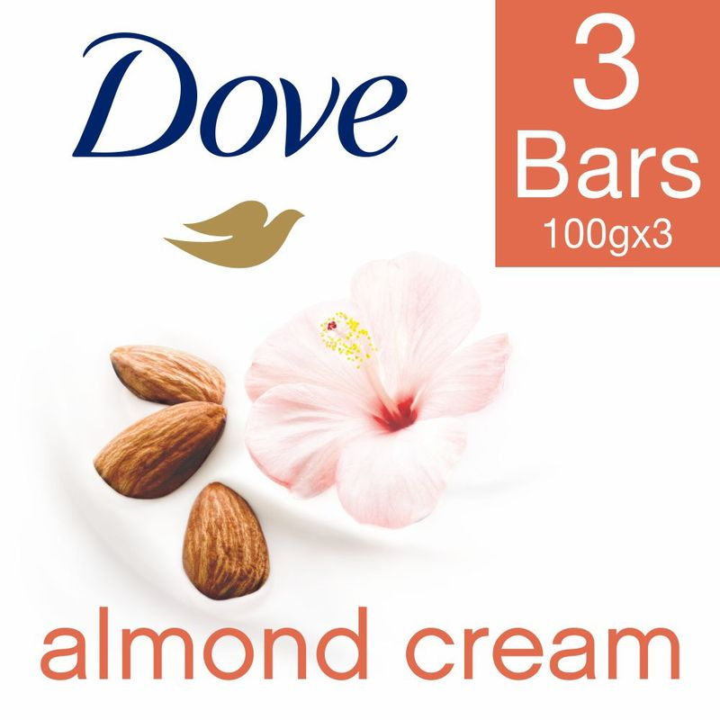 Dove Almond Cream Beauty Bathing Bar (Pack Of 3)(Save Rs.10)