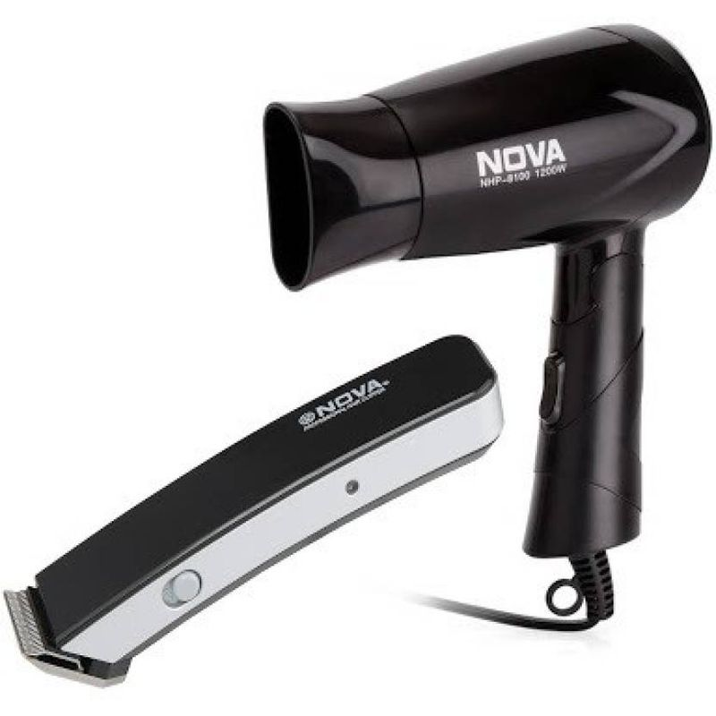 Nova NHP 8100 + NHT 1045 BL Personal Care Appliance Combo(Hair Dryer, Trimmer)