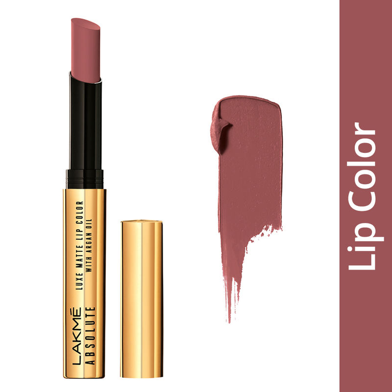 Lakme Absolute Luxe Matte Lip Color With Argan Oil - Rich Cocoa