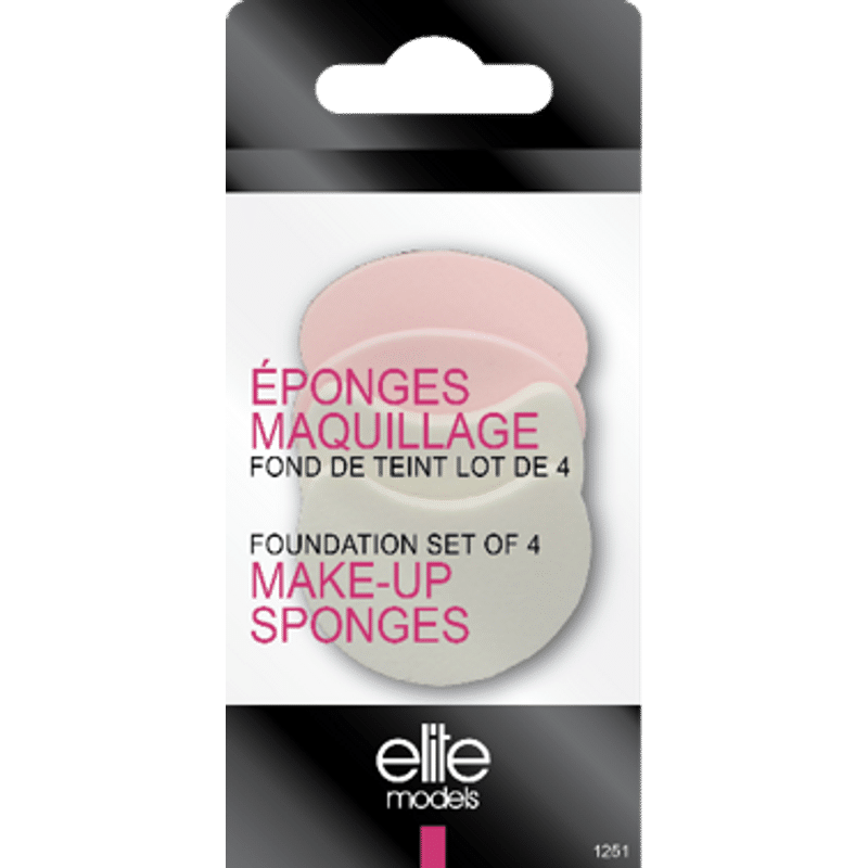 Elite Models (France) Makeup Foundation Puff Sponge (4 Pc Set)