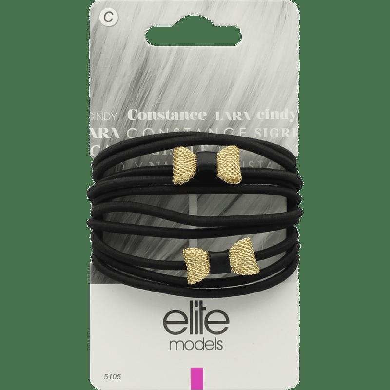 Elite Models (France) Fashion Ponytail Hair Rubber Bands (10 Pc Set) - Gold