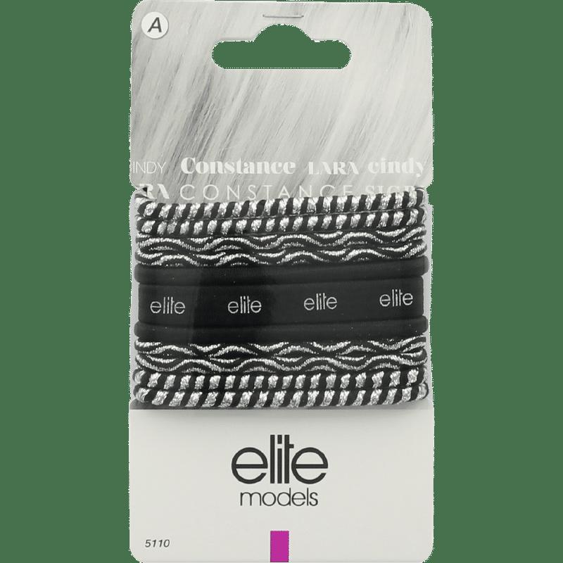 Elite Models (France) Fashion Ponytail Hair Rubber Bands (11 Pc Set) - Black