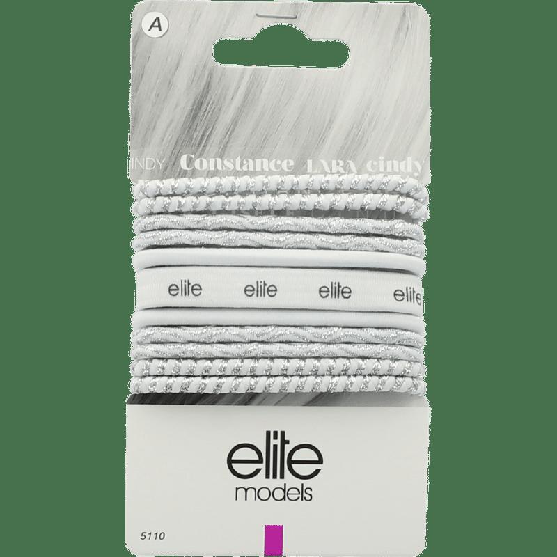 Elite Models (France) Fashion Ponytail Hair Rubber Bands (11 Pc Set) - White