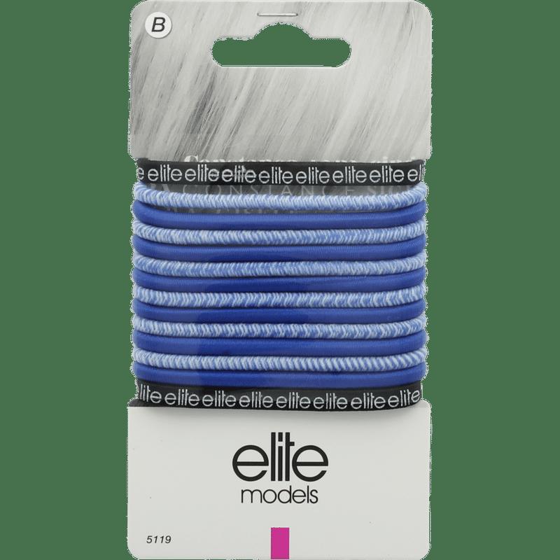 Elite Models (France) Fashion Ponytail Hair Rubber Bands (14 Pc Set) - Blue