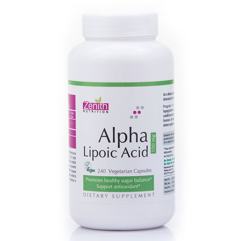 Zenith Nutrition Alpha Lipoic Acid 100 Mg (240 Capsules)