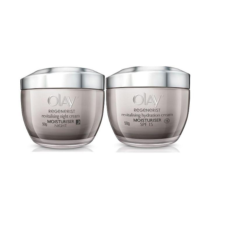 Olay Regenerist Advanced Anti-Ageing Revitalising Night Skin Cream + Hydration Skin Cream Moisturizer
