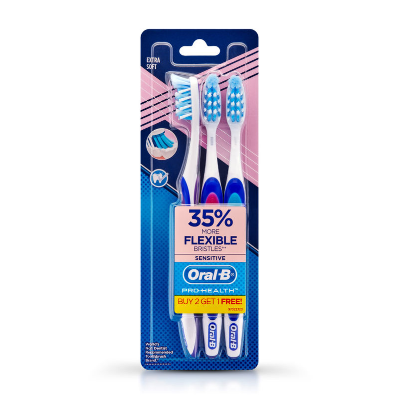 Oral-B Pro-Health Sensitive Toothbrush- Crisscross - Extra Soft- Buy 2 Get 1 Free
