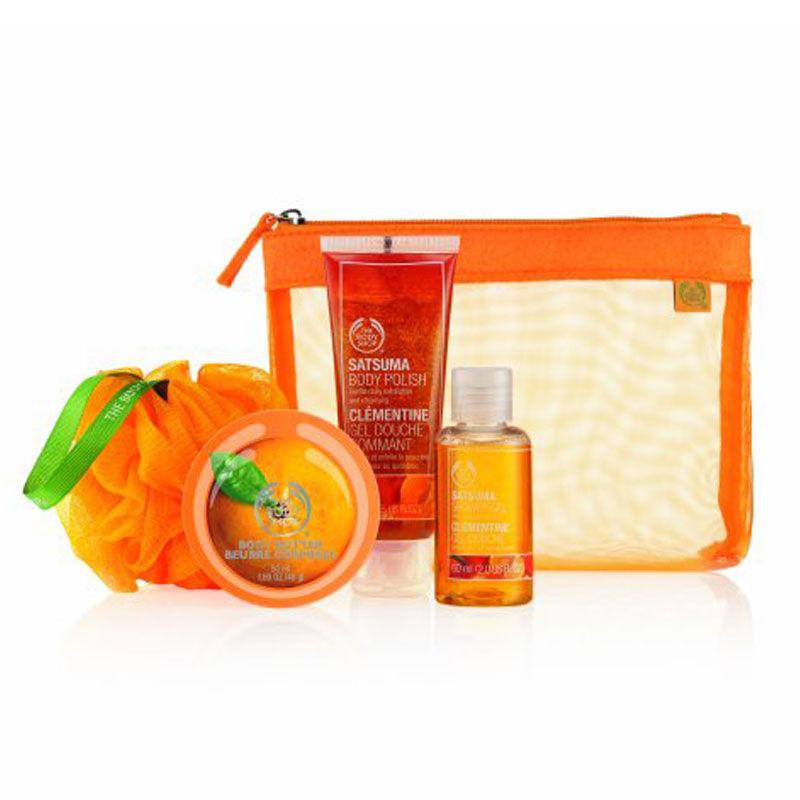 The Body Shop Satsuma Shower, Scrub & Moisture Set
