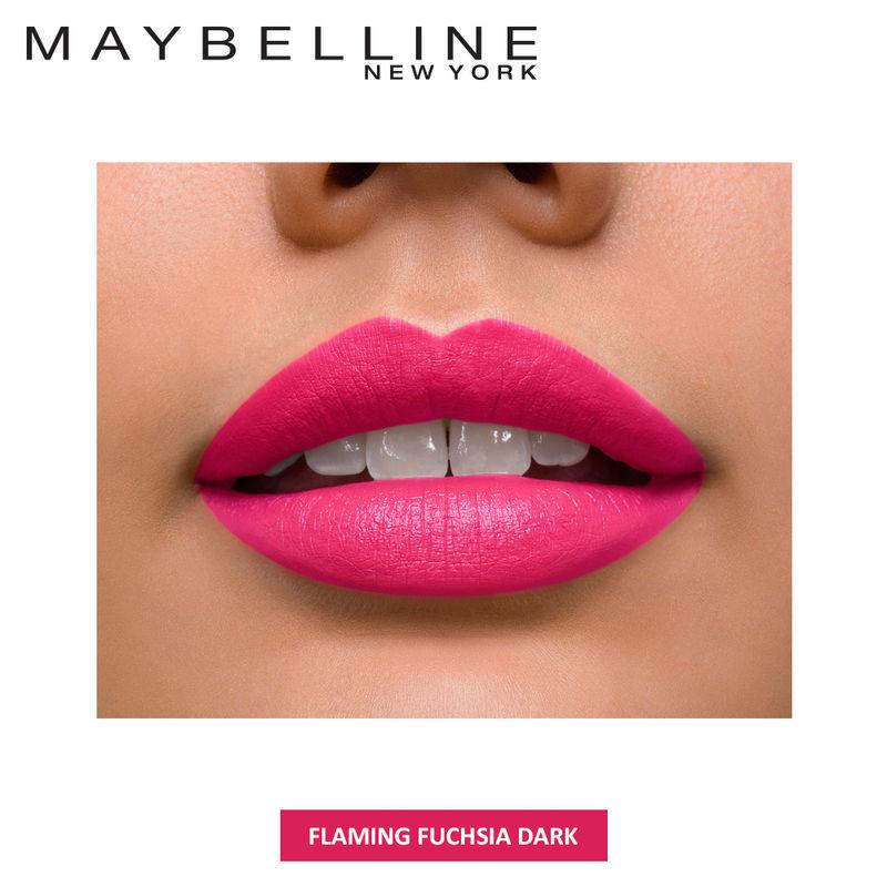 fdd6d287535 Maybelline Color Sensational Velvet Matte Lipstick Flaming Fuchsia ...
