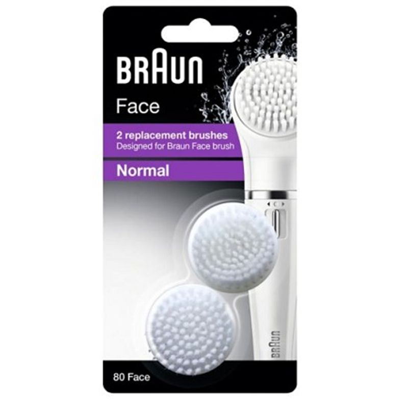 Braun Face 2 Replacement Brushes Braun Face Brush Normal 80 Face