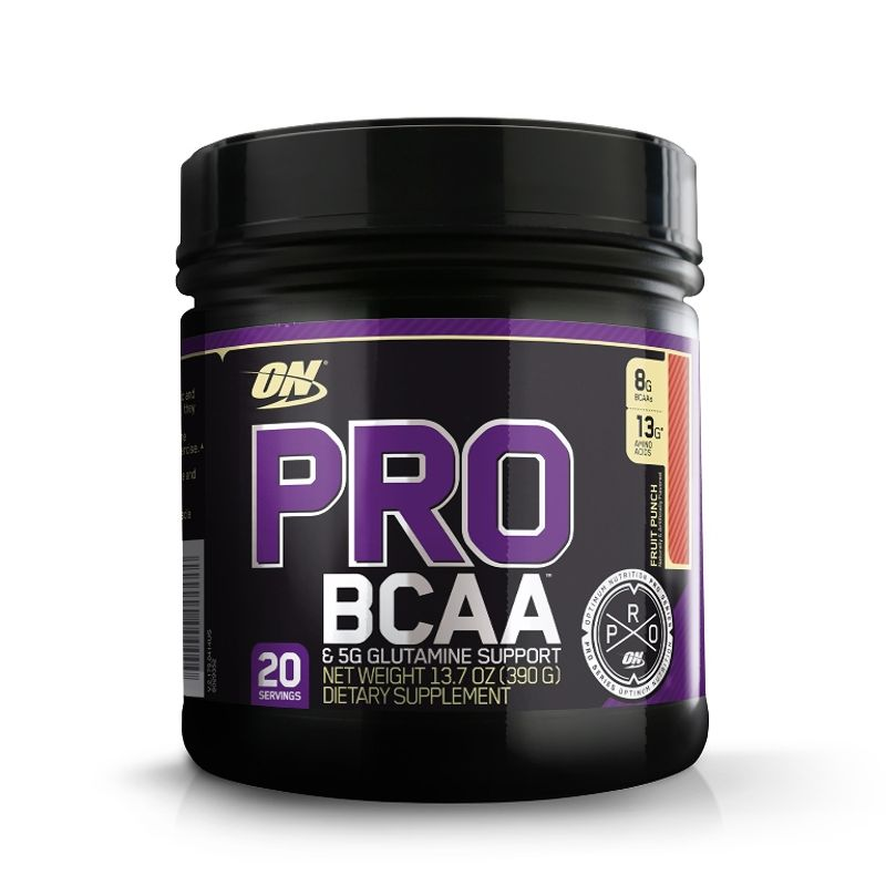 Optimum Nutrition (ON) Pro BCAA & 5G Glutamine Support Powder - 20 Servings (Fruit Punch)