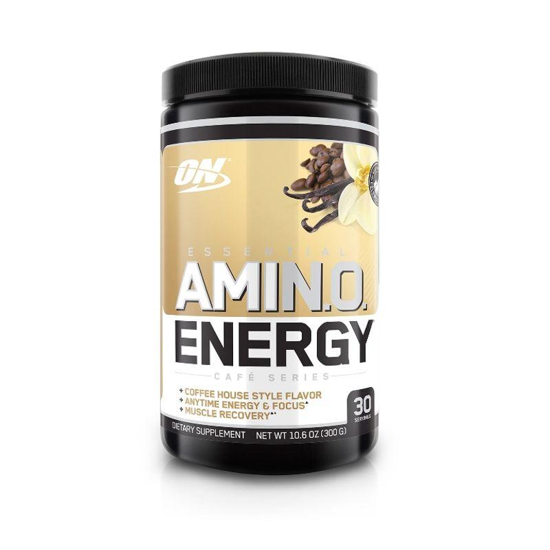 Optimum Nutrition (ON) Amino Energy Powder - 30 Servings (Iced Cafe Vanilla)