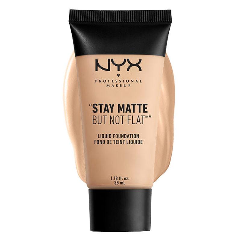 NYX Professional Makeup Stay Matte But Not Flat Liquid Foundation - 1.5 Light Beige