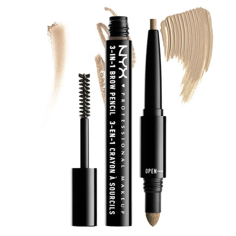 NYX Professional Makeup 3-In-1 Brow Pencil - Blonde